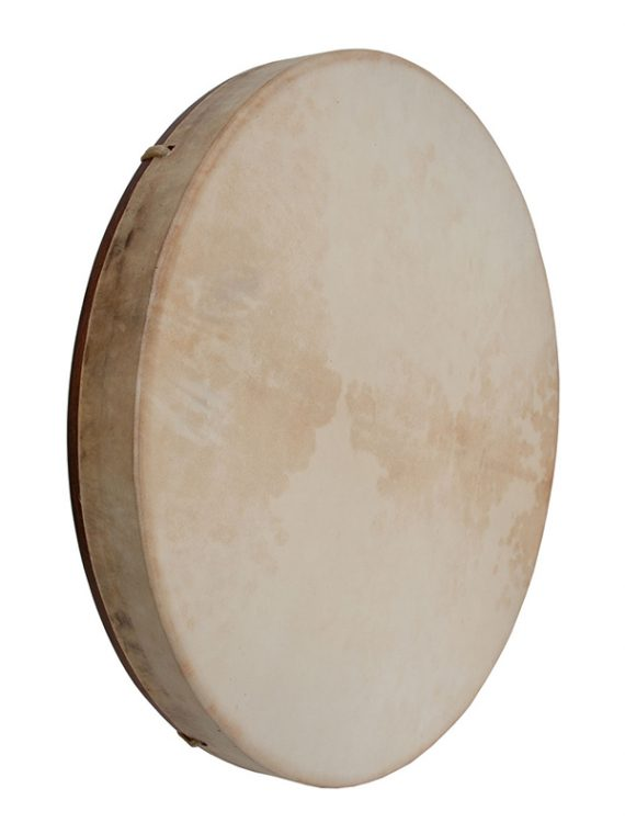PRETUNED GOATSKIN HEAD RED CEDAR WOOD FRAME DRUM WITH BEATER 18-BY-2-INCH