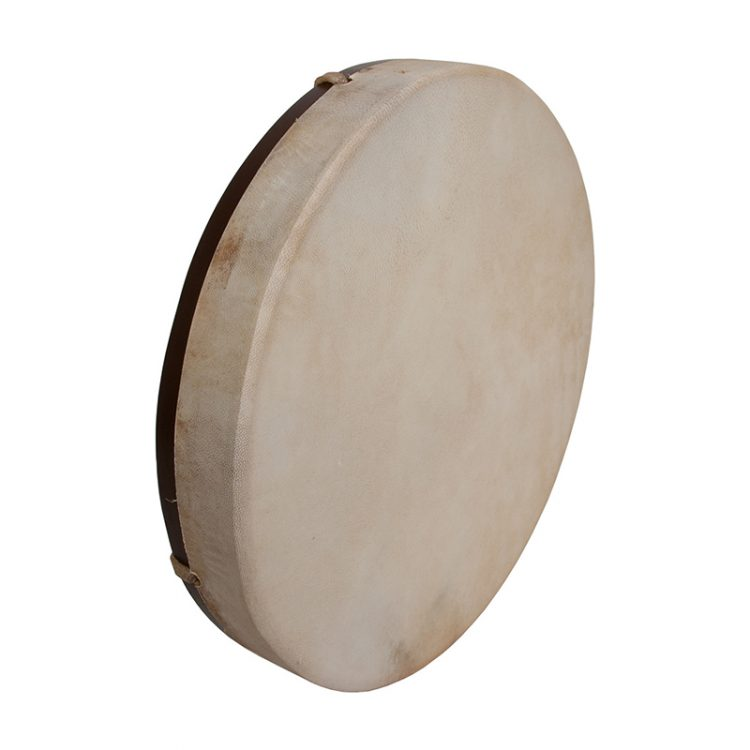 PRETUNED GOATSKIN HEAD WOOD FRAME DRUM 14-BY-2-INCH