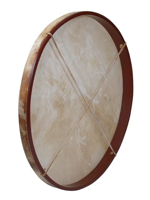 PRETUNED GOATSKIN HEAD WOOD FRAME DRUM 30-BY-2-INCH