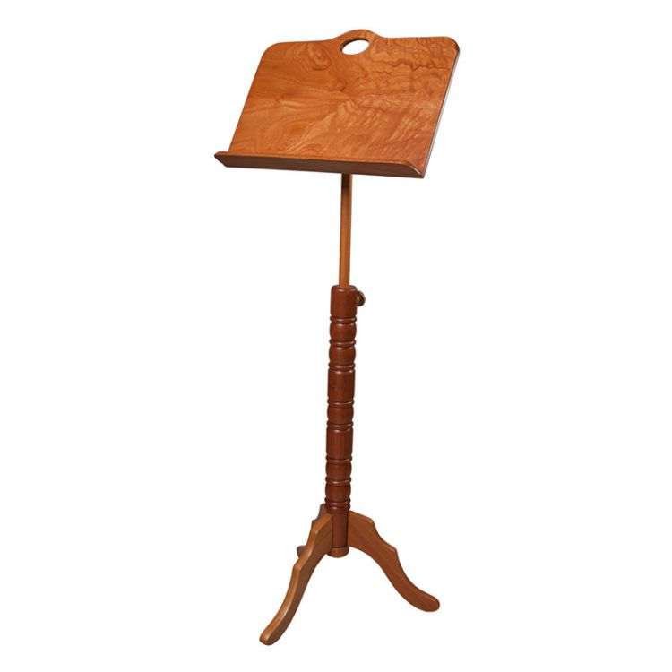 SINGLE TRAY COLONIAL RED CEDAR MUSIC STAND