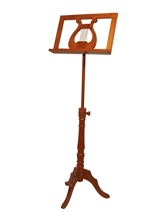 SINGLE TRAY REGENCY MUSIC STAND – RED CEDAR