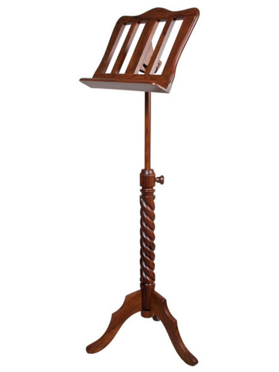 SINGLE TRAY SPIRAL MUSIC STAND ROSEWOOD