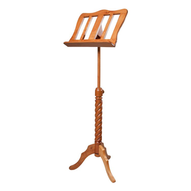 SINGLE TRAY SPIRAL RED CEDAR MUSIC STAND