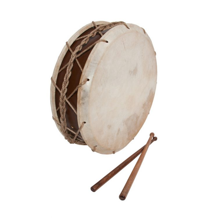TABOR DRUM WITH STICKS 12-INCH