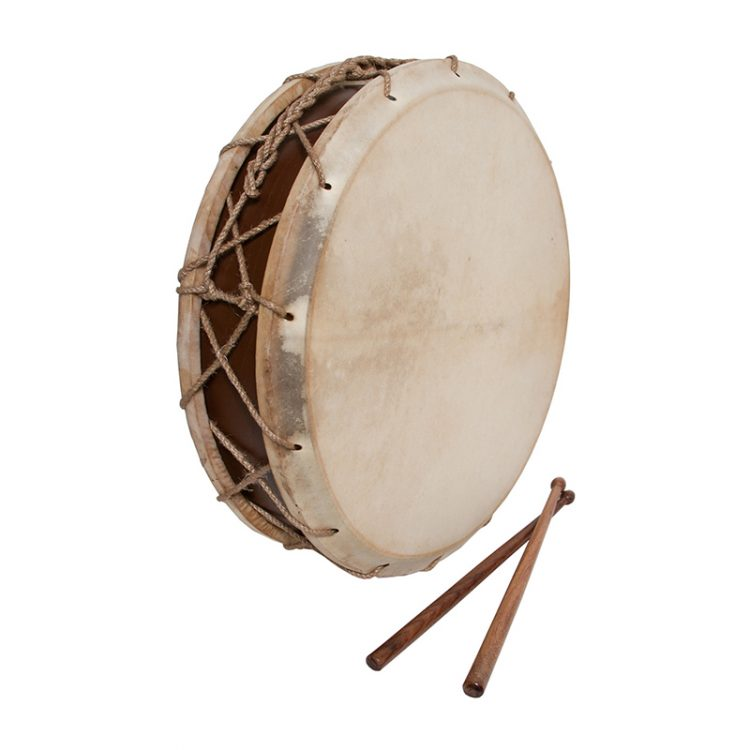 TABOR DRUM WITH STICKS 14-INCH