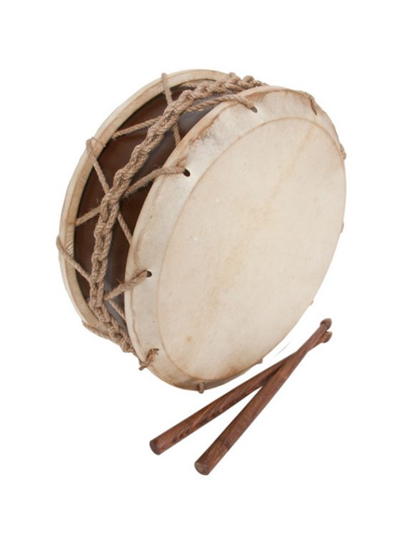 TABOR DRUM WITH STICKS 9-INCH