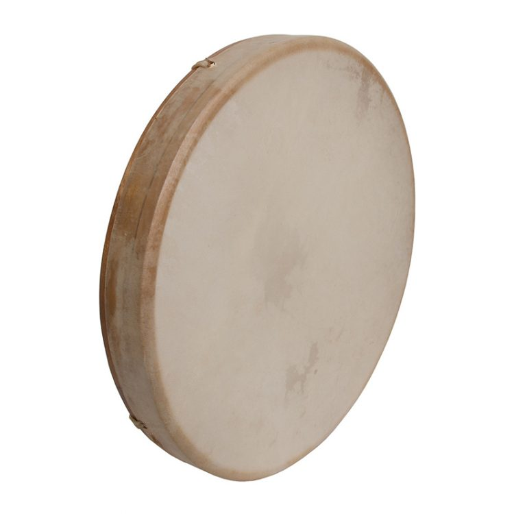 TUNABLE GOATSKIN HEAD WOODEN FRAME DRUM 16-BY-2-INCH
