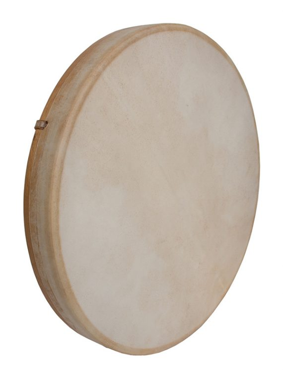 TUNABLE GOATSKIN HEAD WOODEN FRAME DRUM 18-BY-2-INCH