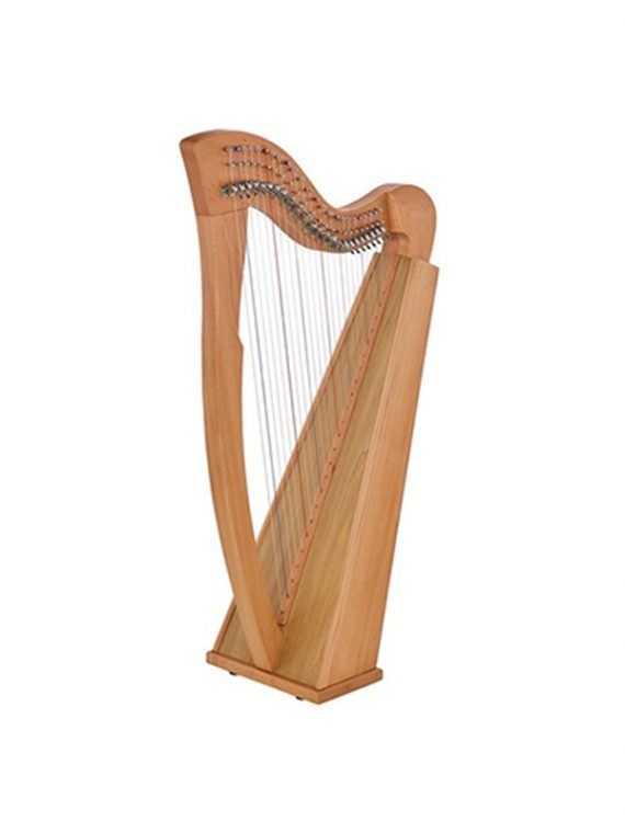 24 String Sequre Back Harp New-Cam Levers Beech Wood