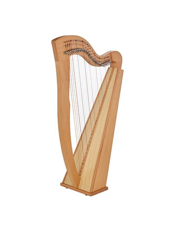 29 String Sequre Back Harp New-Cam Levers beech wood