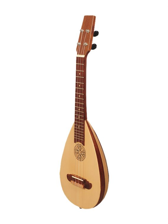 4 String Soprano Baroque Ukulele Variegated Rosewood and Lacewood
