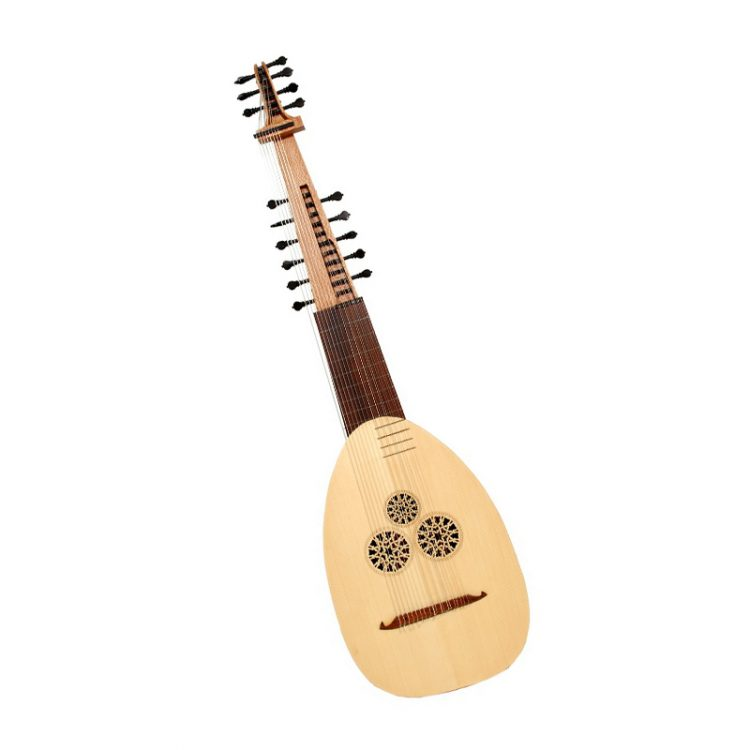 theorbo bass lute small Mideast mfg