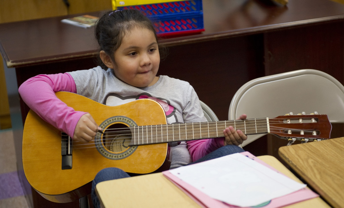 Encourage kids to learn a musical instrument